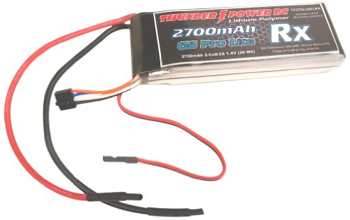 Thunder Power RC 2700mAh 2-Cell/2S 7.4V G6 Pro Lite Rx LiPo Receiver Battery