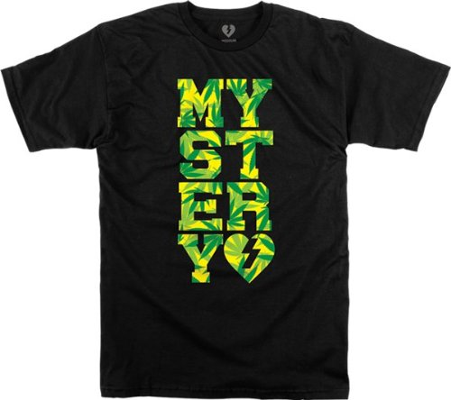 Mystery Varsity Weed Short Sleeve M-Black T-Shirt mystery футболка mystery insecticide