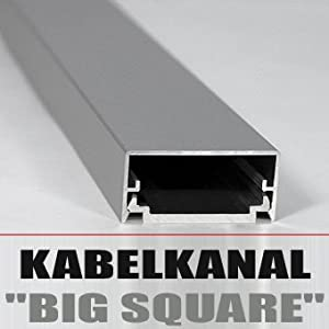 design alu kabelkanal big square lcd plasma silber elektronik. Black Bedroom Furniture Sets. Home Design Ideas