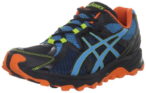 ASICS ASICS Men's GEL-Scout Trail Running Shoe,Black/Horizon Blue/Orange,13 M US
