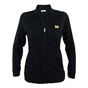 Michigan Wolverines Ladies Cutter and Buck Ravenna Raw Edge Full Zip Jacket by Cutter & Buck