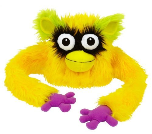 Hugalopes Fuzzy Hat Puppet Monster YELLOW Big Beak Mix & Match Parts unisex funny cap - 1