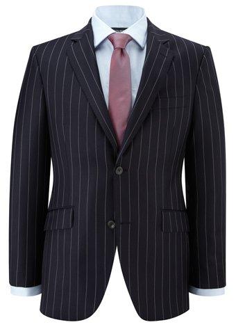 Austin Reed Contemporary Fit Navy Stripe Jacket REGULAR MENS 40