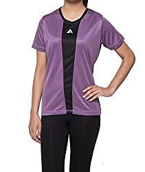 Acetone Ladies V - Neck T-shirt(LSS2_XSmall_Purple)