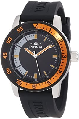 Invicta Men's 12848 Specialty Black Dial Watch with Orange/Black Bezel from Invicta