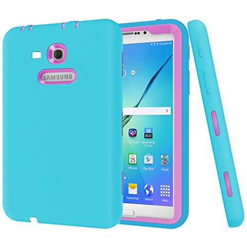Galaxy Tab 3 Lite 7.0 Case,SM-T110/T111 case Darmor [Heavy Duty] [Kickstand Feature] PC+Silicon Hybrid Protective Three Layer Armor Defender Full Body Protective Case for Galaxy Tab 3 Lite 7.0