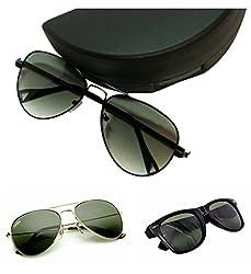 Redix 3 in 1combo Trendy wayfarer aviator sunglasses