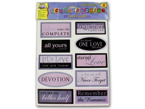 48 Pack of Sentiment scrap book stickers