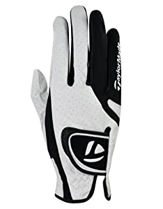 TaylorMade Targa Glove (Right Hand, White/Black, Small)