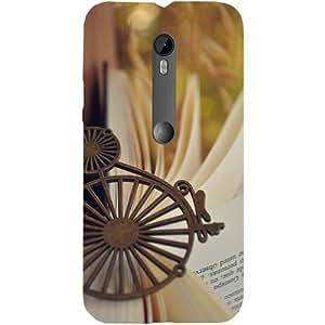 Casotec Souvenir With Book Design Hard Back Case Cover for Motorola Moto G Turbo