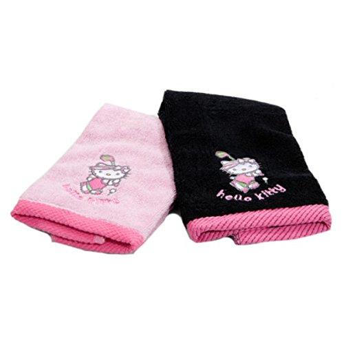 hello-kitty-golf-asciugamani-confezione-da-2-colore-nero-e-rosa