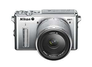 Nikon 1 AW1 Interchangeable Lens Camera with 11-27.5mm Lens Kit - Silver