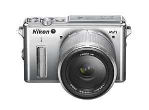 """Nikon 1 AW1 Appareil photo numérique hybride 14,2 Mpix Écran LCD 3"""" 3X Argent"""