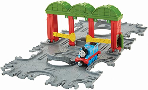 Fisher-Price Thomas The Train: Take-n-Play Knapford Tile Tracks with Thomas Engine - 1