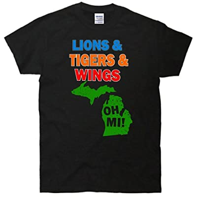 Lions Tigers Wings Oh MI T-Shirt