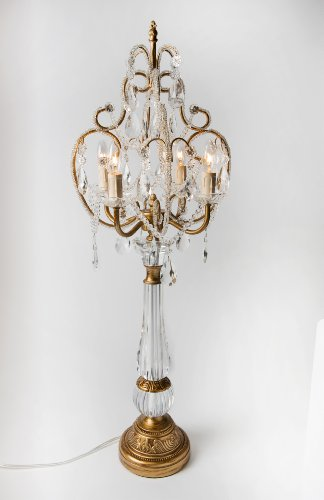 Inspirational Opulent Treasures Chandelier Table Lamp Silver