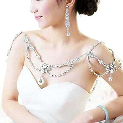 Bella-Vouge Crystal Rhinestone Shoulder Deco Bra Strap Halter Necklace-NO.87