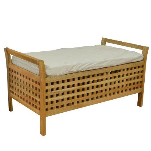 badm bel w schekorb truhe sitzbank walnuss ca 93x49x47. Black Bedroom Furniture Sets. Home Design Ideas