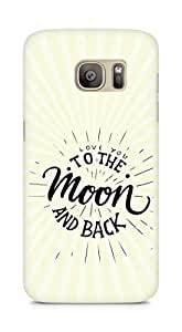 AMEZ love you to the moon and back Back Cover For Samsung Galaxy S7 Edge