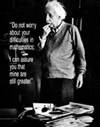 16x20 Albert Einstein - Do Not Worry Quote PosterB0000DJX55 : image
