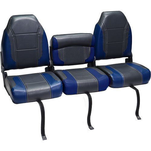 DeckMate Bass Boat Bench Seats 51 Bench Charcoal Blue