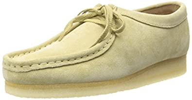 Clarks Womens Wallabee Moccasin Maple Suede Size 5.5