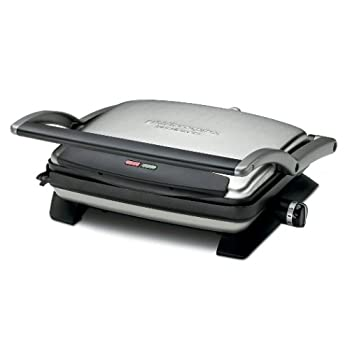 Cuisinart lets customers grill all their favorites-steaks, burgers, chicken, veggies, potatoes, etc.-rain or shine.  The Griddler Express Contact Grill sits right on the kitchen counter, with extra-large top and bottom grill surfaces and a cup to cat...