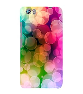 Colourful Light Pattern 3D Hard Polycarbonate Designer Back Case Cover for Micromax Canvas Fire 4 A107