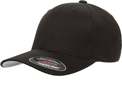 blank-flexfit-brushed-twill-ball-cap-hat-6377-s-m-6-3-4-7-1-4-black