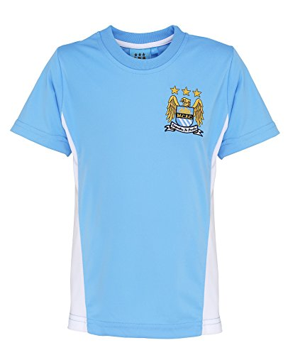 Offizielle Fußball Merch Kids Manchester City Shirt - Ages 2-1 - Sky Blue - 1213