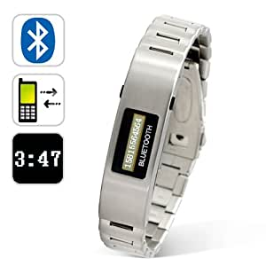 Bluetooth Bracelet with Vibration Function and Digital Time Display