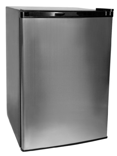 Haier HNSE05VS -01 Freestanding 4-3/5-Cubic-Foot Refrigerator/Freezer, Black with Virtual-Steel Door