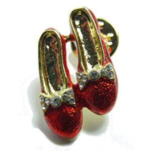 Gay Rainbow Sisters Lapel Pin Tie Tack Wizard of Oz Ruby Slippers