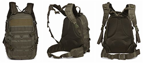 OUTGEAR Military Molle Rifle Patrol Rucksacks Tactical Backpacks with Grenade Survival Kit For Hiking Climbing Shooting Outdoor Sports, O.D. Green (Thor Motorcycle Gear compare prices)