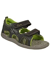 Clarks Kids Boy's Stompowave (Toddler/little Kid) Khaki Sandal 10.5 Toddler Mw