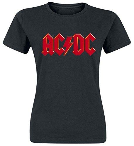AC/DC Red Logo Maglia donna nero M