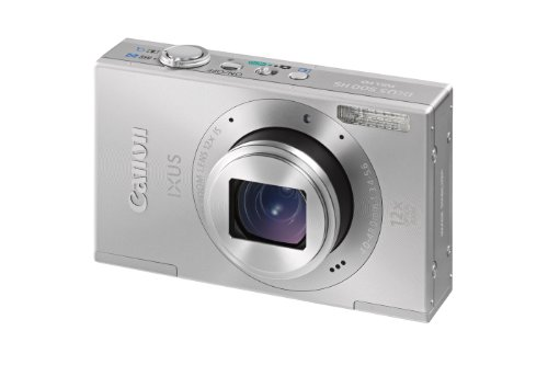 Canon IXUS 500 HS Digital Camera - Silver (10.1MP, 12x Optical Zoom) 3.0 inch LCD
