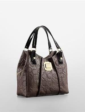 Calvin Klein Parker Center Zip Hobo Handbag (Espresso)