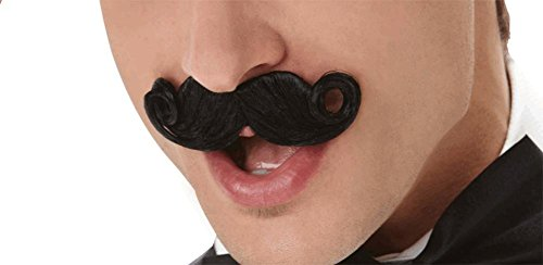 Mini Handlebar Moustache Black