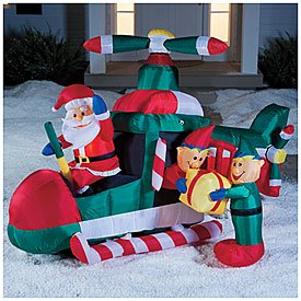 Christmas GIANT Inflatable Lighted SANTA & His