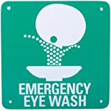 Eye Wash Symbol Safety Sign 7'' X 7'' Plastic