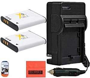 Pack of 2 LI-50B Batteries & Battery Charger for Olympus Sz-10 SZ-12 SZ-15 SZ-16 iHS Sz-20 SZ-30MR SZ31MR iHS TG-610 TG-630 HIS TG-810 TG-820 TG-830 HIS TG-850 IHS XZ-1 XZ-16 iHS SP-810UZ Digital Camera + More!!