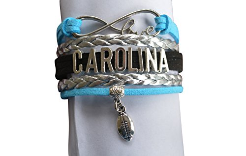 Carolina Panthers Bracelet - NFL Bracelet, Carolina Panthers Jewelry