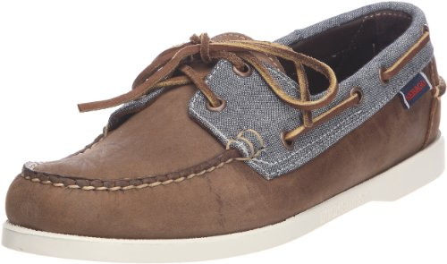 Sebago Men's Spinnaker Light Brown/Grey Canvas Boat B73446 9 UK, 43.5 EU