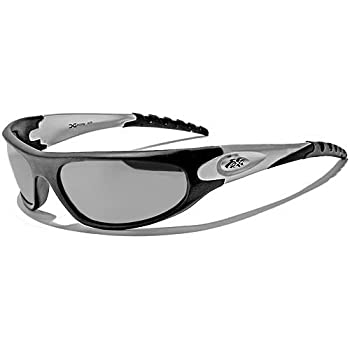X-Loop Lunettes de Soleil - Sport - Cyclisme - Ski - Conduite - Moto - Plage / Mod. 2610 Noir Argent Miroir / Taille Unique Adulte / Protection 100% UV400