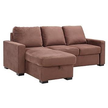 Serta Baltimore Convertible Sofa - Brown