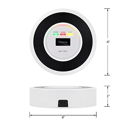 NEARTOP Household Natural Gas Detector Alarm – Liquefied Petroleum Gas Detector – Combustible Gas Leak Detector
