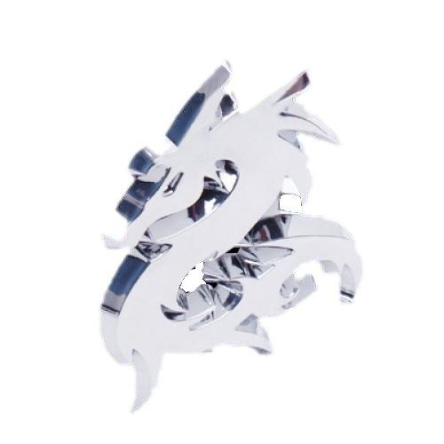 Gleader 3D Drachen Auto Auto-Emblem Abzeichen Aufkleber Sticker Silber