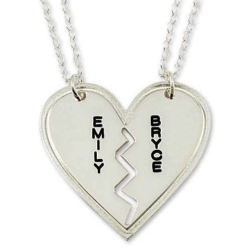 heart necklace for couples - photo #14