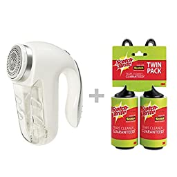 Electric Fabric Shaver with Cord & Lint Rollers Bundle